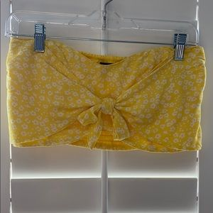 Yellow Floral Bandeau for Summer!